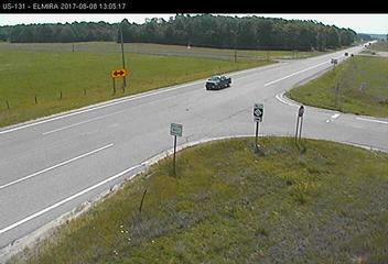 camera image from US-131 - M-32  Elmira Michigan